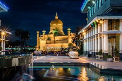 Reflections of Omar Ali Saifuddien Mosque