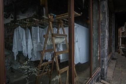 window-view-sheets-drying-longji-china