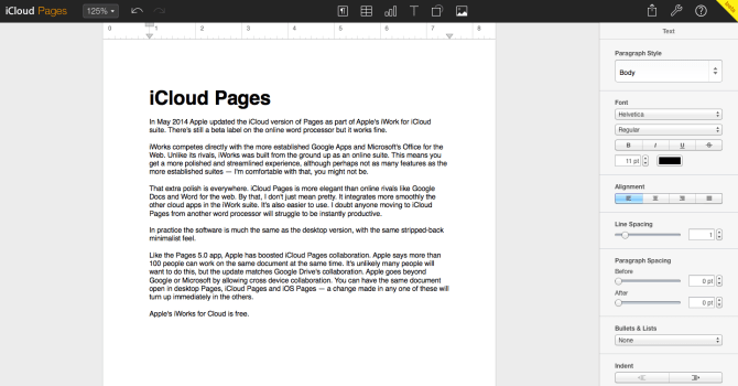 Apple iCloud Pages 2014