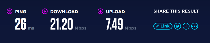 Skinny broadband speediest