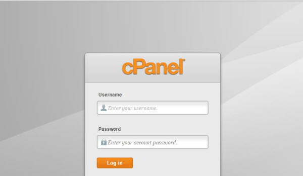 cPanel home page