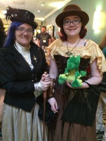 These two ladies were rockin' the Steampunk. Even Windsor approves.