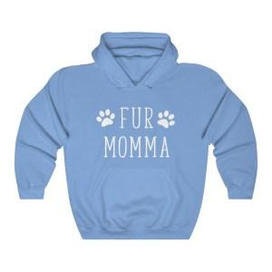Fur Mama Hoodie Blue