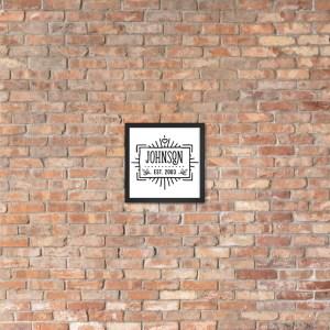 Custom Name - Year - Framed Poster