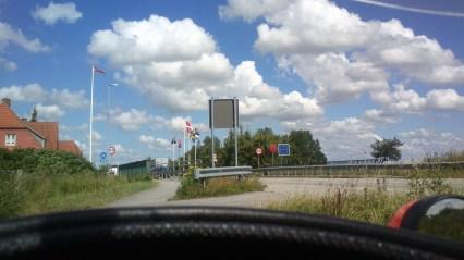 Endelig grænsen til Danmark