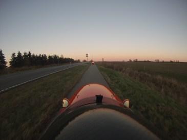 Strada og Quest Xs i Jylland og solen går ned