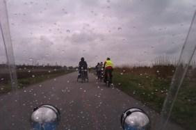 Lidt regn på vej mod Aalborg