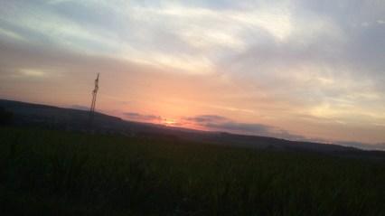 Solnedgang i Ardennerne