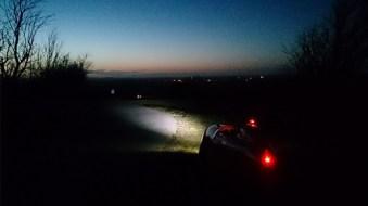 Strada night at the top