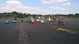 Velomobiler og liggecykler på Værløse Flyveplads