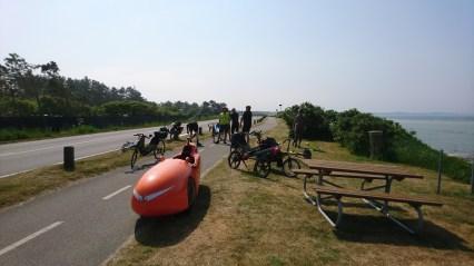 Kort pause på turen Samsø Rundt