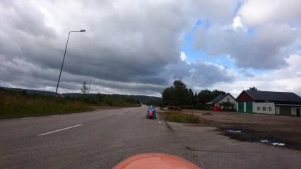 På vej mod Hallandsåsen meget blæsende