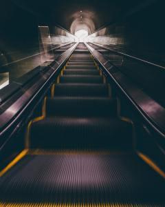 Photo of an escalator