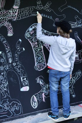 Graffiti à la craie