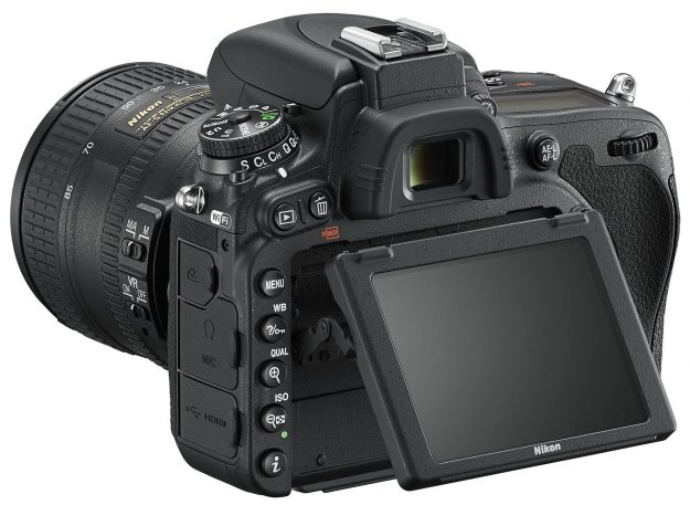 The Nikon D750 features an articulating rear LCD screen (image used courtesy of Nikon USA)