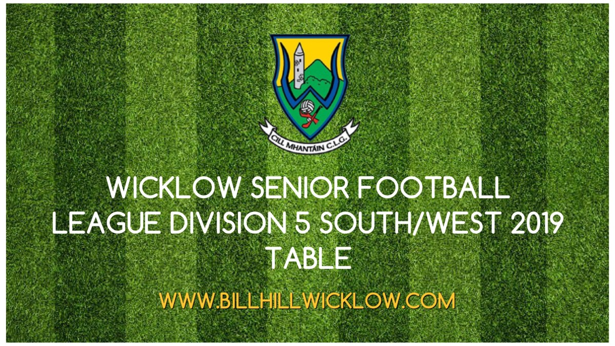 Division 5 South/West Football League 2019