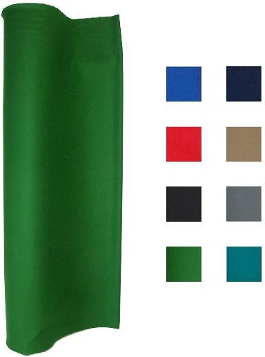 21 Ounce Pool Table Felt - Billiard Cloth - for 7, 8 or 9 Foot Table Choose From English Green, Standard Green, Blue, Navy Blue, Light Gray, Black, or Tan