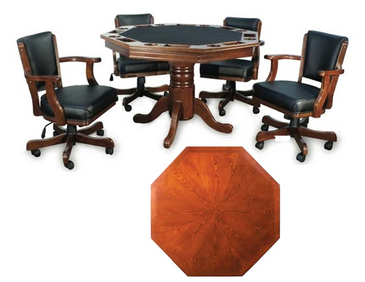 poker table chairs with casters reupholster office chair arms elite 2 in 1 4 billiards n more