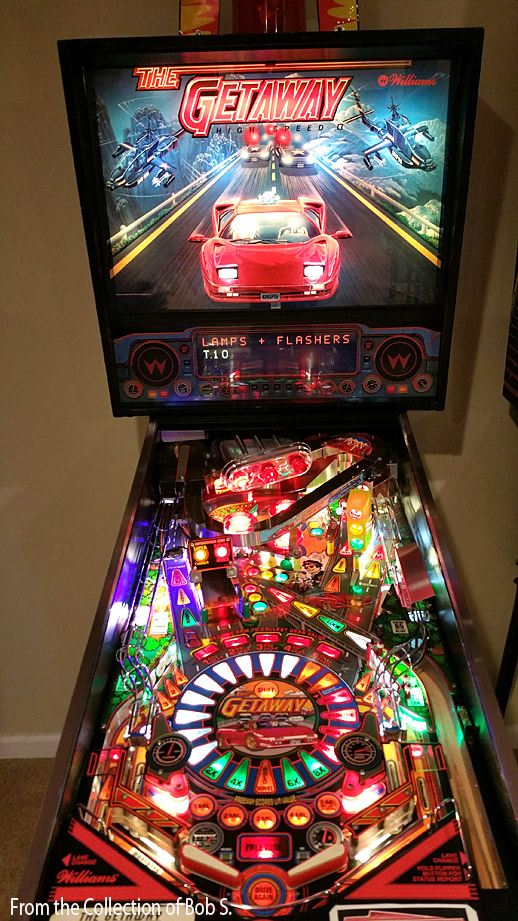 red chairs for sale lounge chair covers ebay getaway pinball high speed 2! | billiards n more