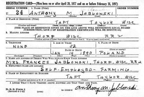 Jablonsky_Anthony_draft_form_1942
