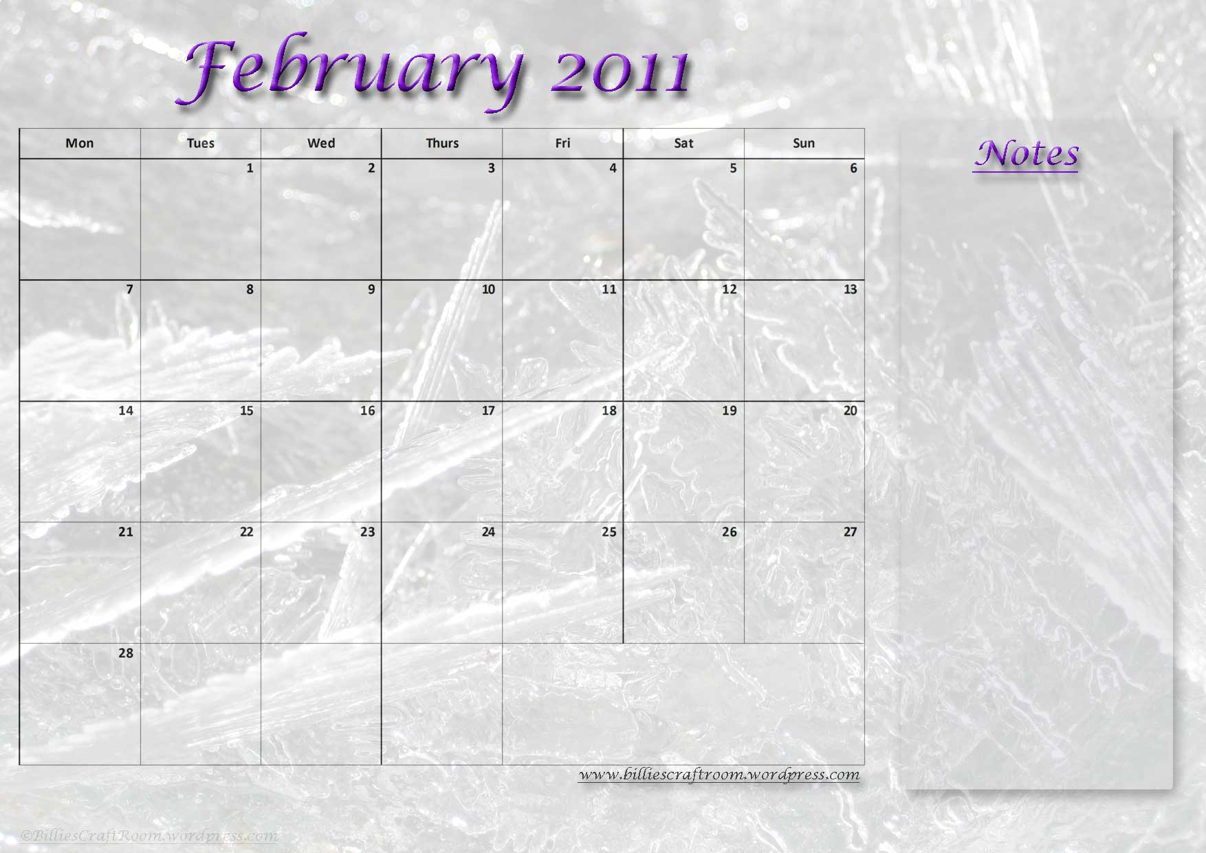 Calendar-February-2011