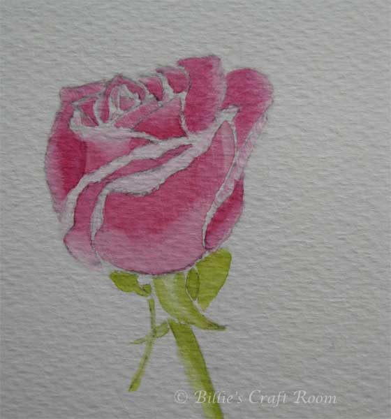 Watercolour Roses 2  Billie's Craft Room