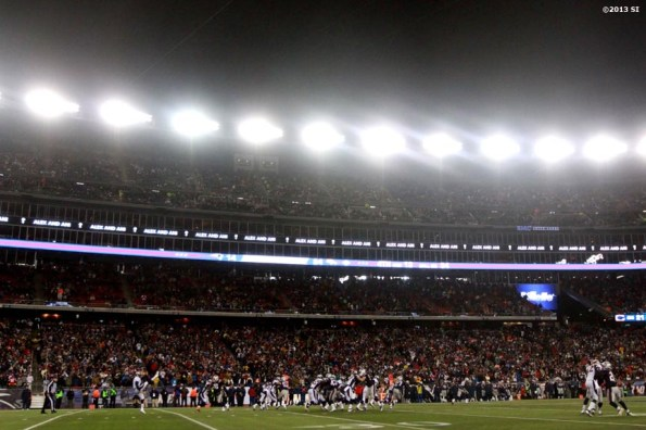 """""""The New England Patriots play the Denver Broncos Sunday, November 24, 2013 at Gillette Stadium in Foxborough, Massachusetts."""""""