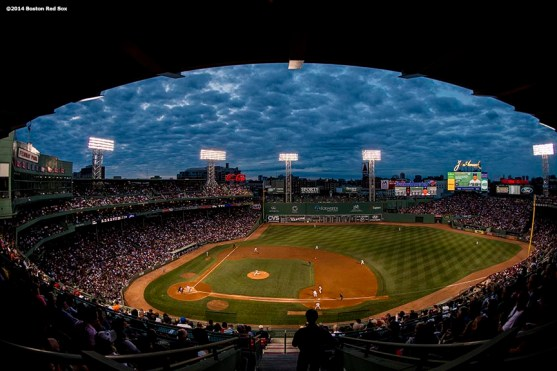 """""""Fenway Park is shown during a game between the Boston Red Sox and the Toronto Blue Jays Tuesday, July 29, 2014."""""""