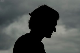 """""""Roger Federer is shown in silhouette during a practice session at the All England Lawn and Tennis Club in London, England Saturday, July 5, 2014 during the 2014 Championships Wimbledon."""""""