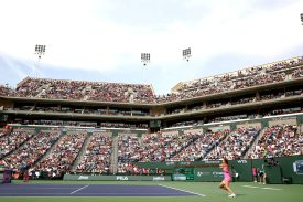 """""""The 2015 BNP Paribas Open Women's Singles Final between Simona Halep and Jelena Jankovic in Indian Wells, California on Sunday, March 22, 2015."""""""