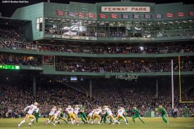 """""""Game action during the Shamrock Series Football at Fenway game between Notre Dame and Boston College at Fenway Park in Boston, Massachusetts Saturday, November 21, 2015."""""""