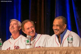 """""""Former Boston Red Sox outfielders Dwight Evans, Fred Lynn, and Jim Rice speak on a panel during the 2016 Winter Weekend at Foxwoods Resort & Casino in Ledyard, Connecticut Saturday, January 23, 2016."""""""