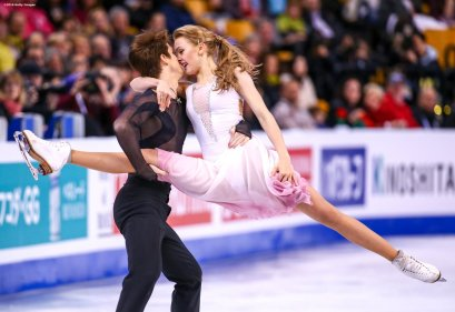 BOSTON, MA - MARCH 31: Alexandra Stepanova and Ivan Bukin of Russia compete during Day 4 of the ISU World Figure Skating Championships 2016 at TD Garden on March 31, 2016 in Boston, Massachusetts. (Photo by Billie Weiss - ISU/ISU via Getty Images) *** Local Caption *** Alexandra Stepanova; Ivan Bukin