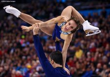 BOSTON, MA - APRIL 2: Meagan Duhamel and Eric Radford of Canada compete during Day 6 of the ISU World Figure Skating Championships 2016 at TD Garden on April 2, 2016 in Boston, Massachusetts. (Photo by Billie Weiss - ISU/ISU via Getty Images) *** Local Caption *** Meagan Duhamel; Eric Radford