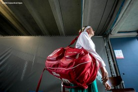 August 24, 2016, New Haven, Connecticut: Petra Kvitova of the Czech Republic walks through the tunnel before a match on Day 6 of the 2016 Connecticut Open at the Yale University Tennis Center on Wednesday, August 24, 2016 in New Haven, Connecticut. (Photo by Billie Weiss/Connecticut Open)