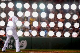 BOSTON, MA - SEPTEMBER 14: David Ortiz #34 of the Boston Red Sox bats during the sixth inning of a game against the Baltimore Orioles on September 14, 2016 at Fenway Park in Boston, Massachusetts. (Photo by Billie Weiss/Boston Red Sox/Getty Images) *** Local Caption *** David Ortiz