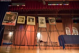 January 27, 2017, Boston, MA: Memorabilia is shown during a Jackie Robinson Day recognition event at Charlestown High School in Boston, Massachusetts Friday, January 27, 2017. (Photo by Billie Weiss/Boston Red Sox)