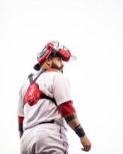 BOSTON, MA - JUNE 12: Sandy Leon #3 of the Boston Red Sox looks on before a game against the Philadelphia Phillies on June 12, 2017 at Fenway Park in Boston, Massachusetts. (Photo by Billie Weiss/Boston Red Sox/Getty Images) *** Local Caption *** Sandy Leon
