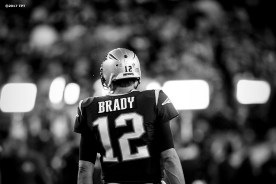 Tom Brady #12 of the New England Patriots looks on during the opening game of the 2017 NFL season against the Kansas City Chiefs at Gillette Stadium in Foxborough, Mass. on Sept. 7, 2017. (Photo by Billie Weiss/The Players' Tribune)