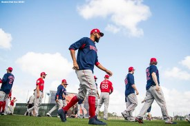 FT. MYERS, FL - FEBRUARY 21: David Price #24 of the Boston Red Sox walks on the field during a team workout on February 21, 2018 at jetBlue Park at Fenway South in Fort Myers, Florida . (Photo by Billie Weiss/Boston Red Sox/Getty Images) *** Local Caption *** David Price