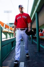 BOSTON, MA - APRIL 5: Drew Pomeranz #31 of the Boston Red Sox walks through the dugout before the Opening Day game against the Tampa Bay Rays on April 5, 2018 at Fenway Park in Boston, Massachusetts. (Photo by Billie Weiss/Boston Red Sox/Getty Images) *** Local Caption *** Drew Pomeranz