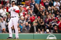 BOSTON, MA - APRIL 14: J.D. Martinez #28 of the Boston Red Sox reacts after hitting a solo home run during the fourth inning of a game against the Baltimore Orioles on April 14, 2018 at Fenway Park in Boston, Massachusetts. (Photo by Billie Weiss/Boston Red Sox/Getty Images) *** Local Caption *** J.D. Martinez