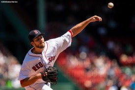 BOSTON, MA - MAY 2: Drew Pomeranz #31 of the Boston Red Sox delivers during the first inning of a game against the Kansas City Royals on May 2, 2018 at Fenway Park in Boston, Massachusetts. (Photo by Billie Weiss/Boston Red Sox/Getty Images) *** Local Caption *** Drew Pomeranz