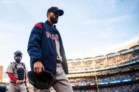NEW YORK, NY - MAY 9: Rick Porcello #22 of the Boston Red Sox walks toward the dugout before a game against the New York Yankees on May 9, 2018 at Yankee Stadium in the Bronx borough of New York City. (Photo by Billie Weiss/Boston Red Sox/Getty Images) *** Local Caption *** Rick Porcello