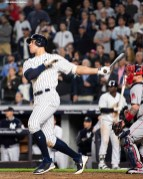 NEW YORK, NY - MAY 9: Aaron Judge #99 of the New York Yankees hits a two run home run during the eighth inning of a game against the Boston Red Sox on May 9, 2018 at Yankee Stadium in the Bronx borough of New York City. (Photo by Billie Weiss/Boston Red Sox/Getty Images) *** Local Caption *** Aaron Judge