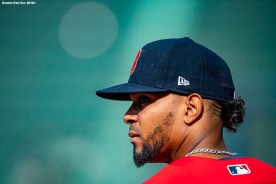 BOSTON, MA - AUGUST 21: Xander Bogaerts #2 of the Boston Red Sox looks on before a game against the Cleveland Indians on August 21, 2018 at Fenway Park in Boston, Massachusetts. (Photo by Billie Weiss/Boston Red Sox/Getty Images) *** Local Caption *** Xander Bogaerts