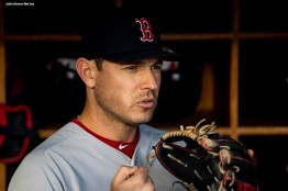 NEW YORK, NY - SEPTEMBER 19: Ian Kinsler #5 of the Boston Red Sox looks on before a game against the New York Yankees on September 19, 2018 at Yankee Stadium in the Bronx borough of New York City. (Photo by Billie Weiss/Boston Red Sox/Getty Images) *** Local Caption *** Ian Kinsler