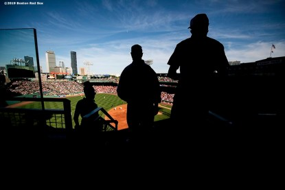 BOSTON, MA - JUNE 12: Fans look on during a game between the Boston Red Sox and the Texas Rangers on June 12, 2019 at Fenway Park in Boston, Massachusetts. (Photo by Billie Weiss/Boston Red Sox/Getty Images) *** Local Caption ***