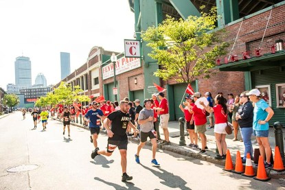 July 27, 2019 , Boston, MA: Runners run during the 2019 Run to Home Base presented by New Balance at Fenway Park in Boston, Massachusetts Saturday, July 27, 2019. (Photo by Billie Weiss/Home Base)