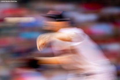 BOSTON, MA - JULY 28: Chris Sale #41 of the Boston Red Sox delivers during the first inning of a game against the New York Yankees on July 28, 2019 at Fenway Park in Boston, Massachusetts. (Photo by Billie Weiss/Boston Red Sox/Getty Images) *** Local Caption *** Chris Sale